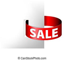 anel, papel, venda, vermelho