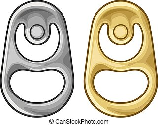 anel, vetorial, metal pode, ilustração