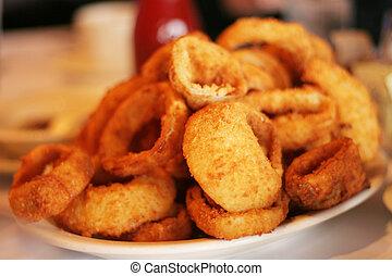 anelli, delizioso, cipolla