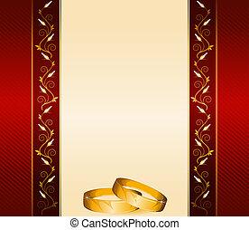 anelli, due, matrimonio