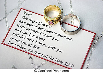 anelli nozze, voti