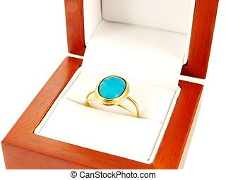 anello blu, gemstone