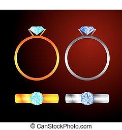 anello, diamante