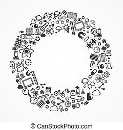 anello, set, icons.