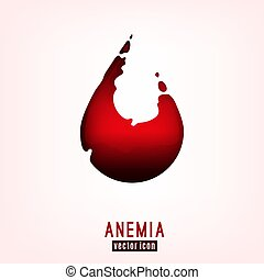 Anemia Icon Image - Anemia icon. Vector illustration in deep...