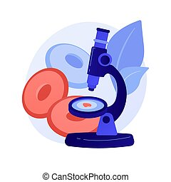 Anemia screening abstract concept vector illustration. ...