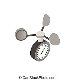 Anemometer icon, isometric 3d style