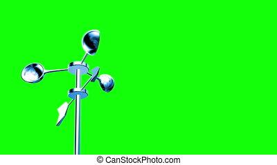 Anemometer (Loop on Green Screen)
