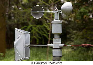 Anemometer ( meteorology equipment ) - Outdoor anemometer, a...