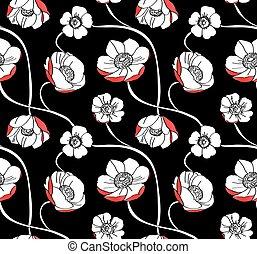 Anemone flower pattern
