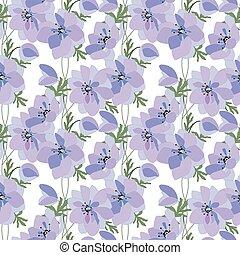 anemones, fatto, modello, seamless, primavera, floreale