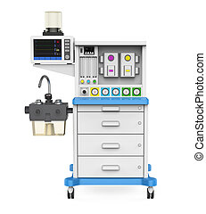 Anesthesia Machine isolated on white background. 3D render