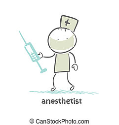 anesthesiologist with syringe