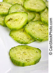 aneth, concombre, salade