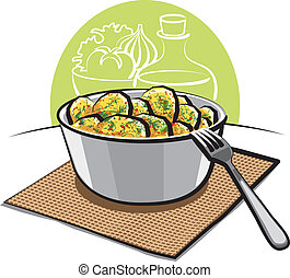 aneto, prezzemolo, insalata, patata