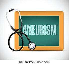 aneurisma, palabra, escrito