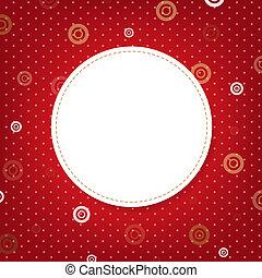 anförande, abstrakt, bubbla, röd fond