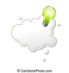 anförande, lampa, bubbla