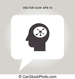 anføreren, netværk, vektor, menneske, sociale, ikon