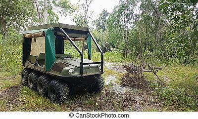 anfibio, vehículo terreno