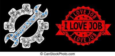 angústia, selo, manchas, ferramenta, luminoso, trabalho, rede, serviço, amor, polygonal, luz