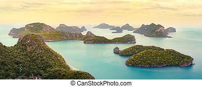 ang, cinghia, parco, nazionale, ko, mu, tailandia, marino