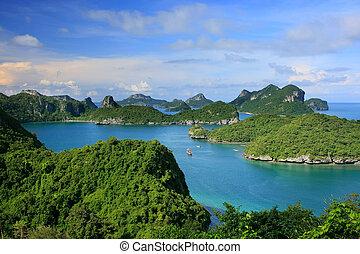 ang, thong, nationaal park, thailand, marinier