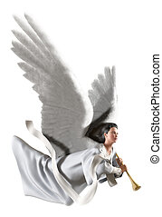 ange, blanc