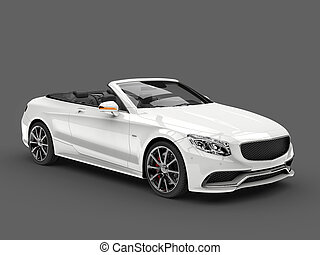 ange, blanc, moderne, luxe, voiture convertible