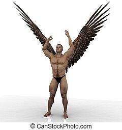 angel 92 - male angel in an artistic model pose
