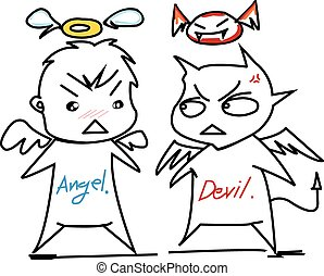 angel and devil