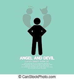 Angel And Devil Symbol.