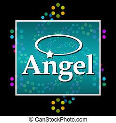 Angel Black Colorful Neon Square