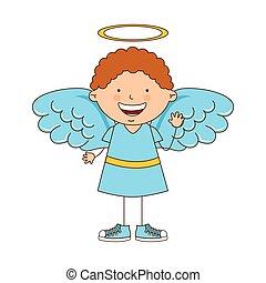 angel boy character icon