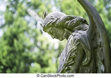 angel., century., künstler, unbekannt, traurige , 19.,...