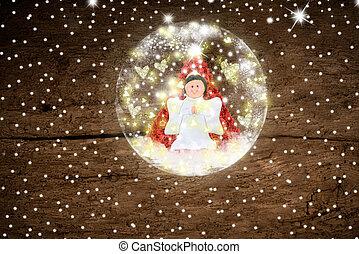 Angel, Christmas greeting card