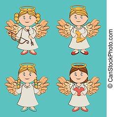 Angel design, vector illustration.
