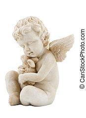 angel figure, isolated on white background