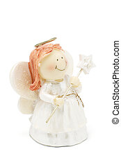 Angel Figure on White Backgound