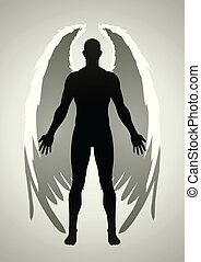 Vector illustration of an angel figure