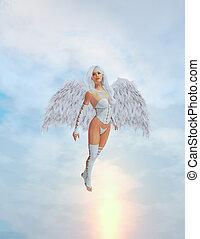 Angel Flying - Angel in mid flight