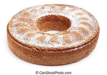 angel food cake isolated on white background