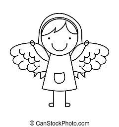 angel girl character icon