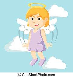 angel girl illustration design