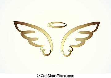 Angel gold wings