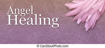 Angel Healing Concept Banner Head