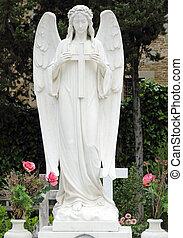 angel holding cross