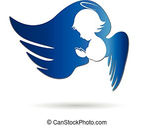 Angel icon logo creative design vector