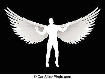 Angel - Illustration of an angel figure