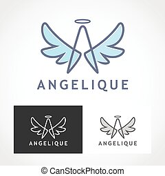 Angel Logo Symbol.